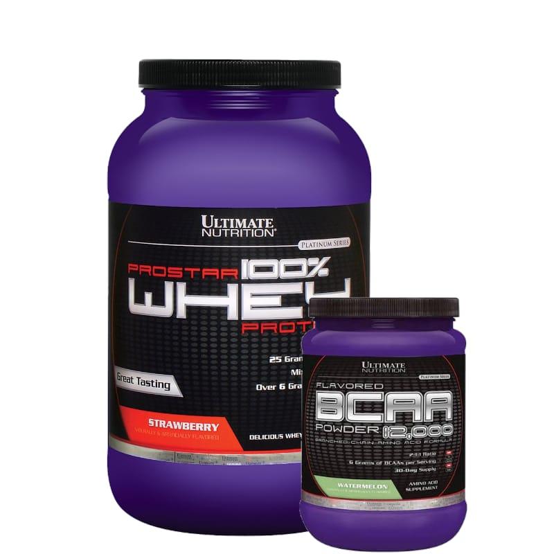Combo:Prostar 900g +BCAA 228g -Ultimate nutrition