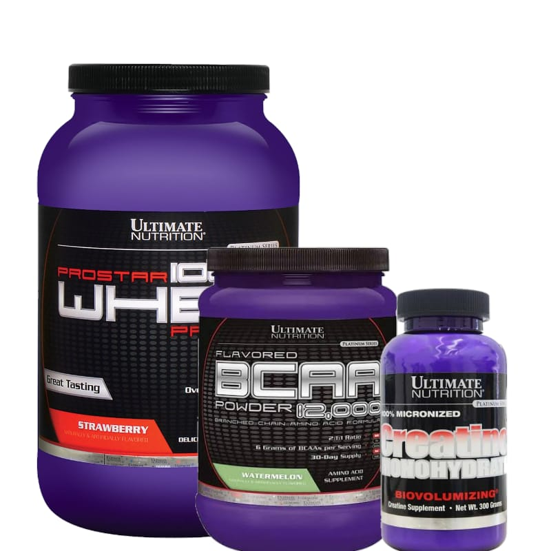 Combo:Prostar 900g +Creatina 300g+BCAA 228G -Ultimate nutrition