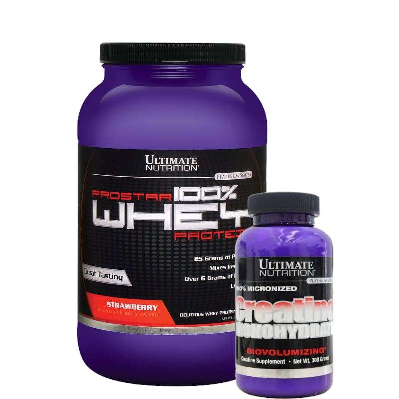 Combo:Prostar 900g +Creatina 300g -Ultimate nutrition