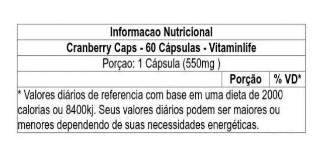 Cranberry 60 cápsulas Vitaminlife