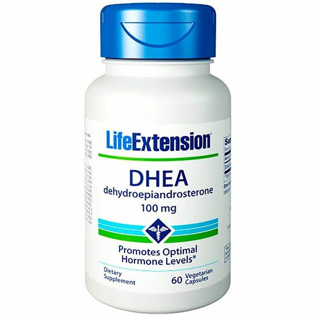 DHEA 100mg (60 cápsulas) - Life Extension