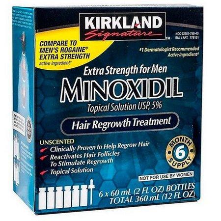 Extra Strengt for Men Minoxim Kirkland - 6 meses de tratamento capilar completo -