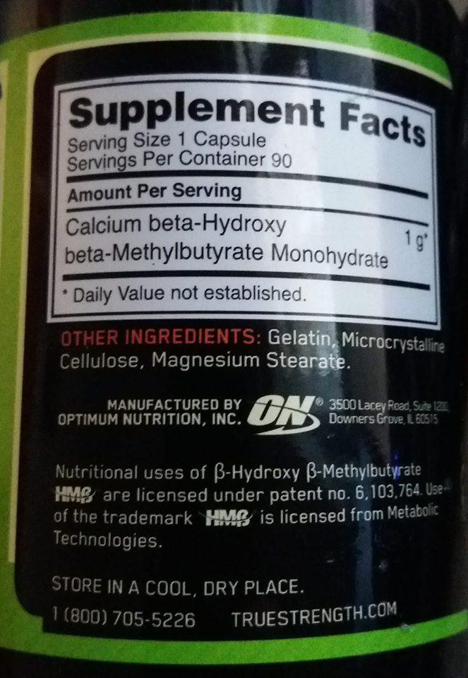 Hmb  Optimum Nutrition-1.000mg 90 capsulas (val:05/2021)