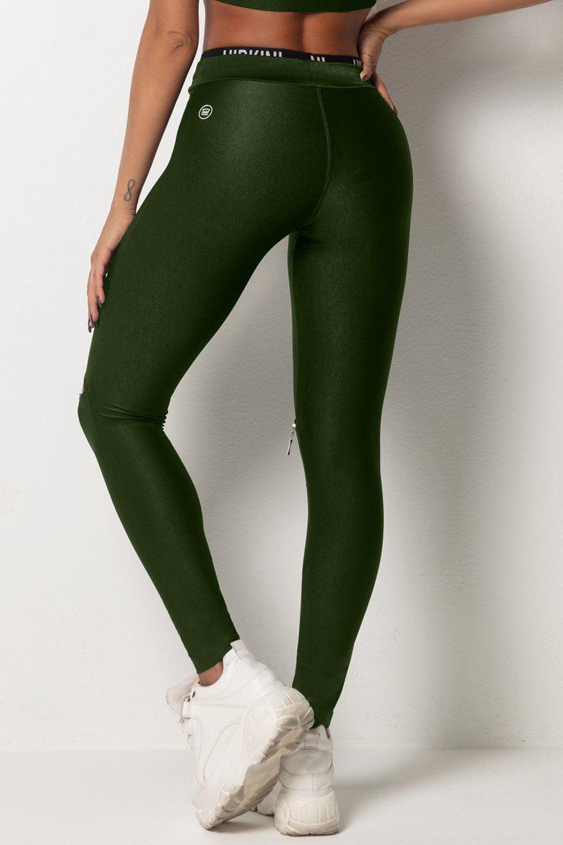 Legging Tfin Fitness Verde com Elastico Personalizado