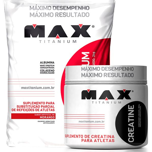 Mass Titanium 17500 3kg + Creatina Titanium 300g - Max Titanium