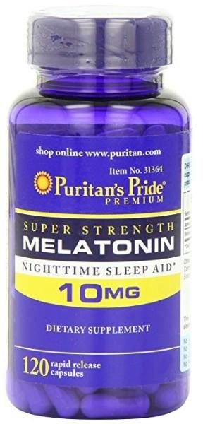 Melatonin 10 mg-120 capsulas Puritan's Pride