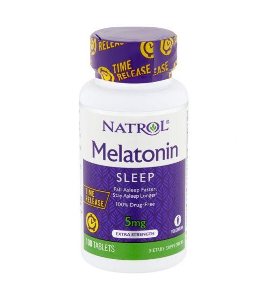 Melatonin 5mg 100 capsulas( time release ) Natrol