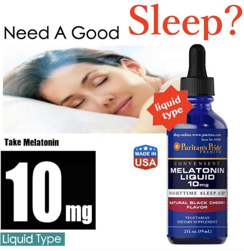 3 Melatonin Liquida 10 mg -Puritan's Pride