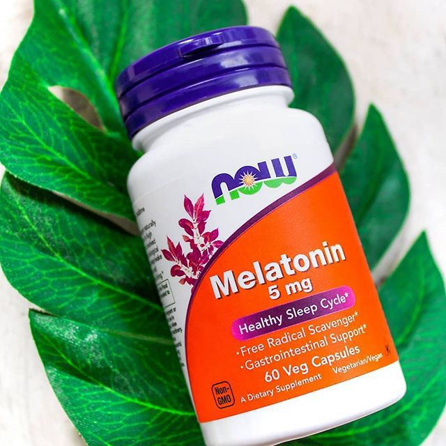 MELATONINA 5mg - Now Foods (60 cápsulas)