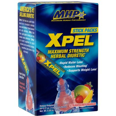MHP Xpel Stick Packs 20 saches formula americana