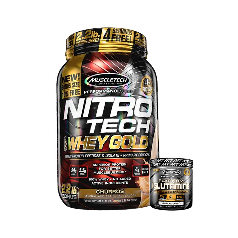 Nitrotech  Whey Gold muscletech 999g +Creatina 100g muscletech