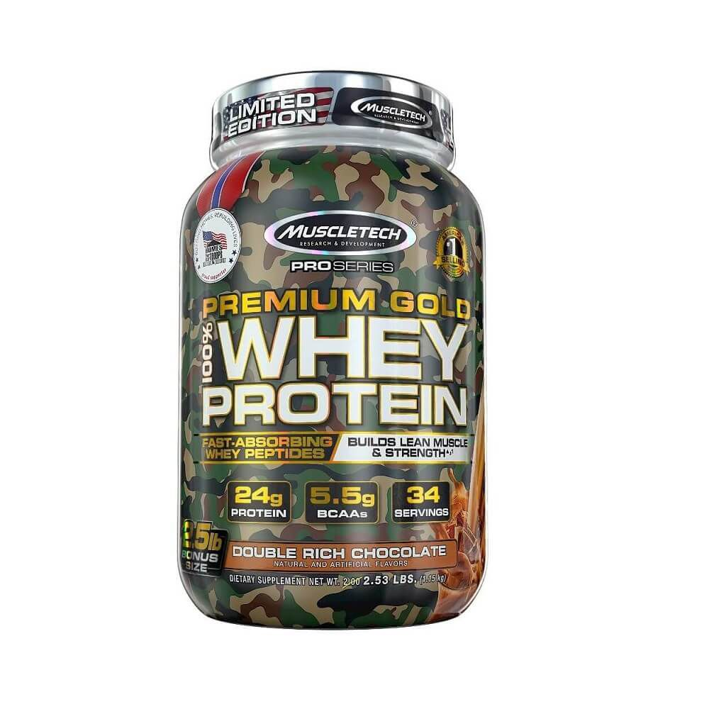 Nitrotech 100% Whey Gold Camo (1.15kg) 2.5 lbs  -chocolate