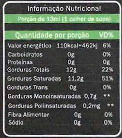 Oleo De Coco - Alho A Cebola 200ml