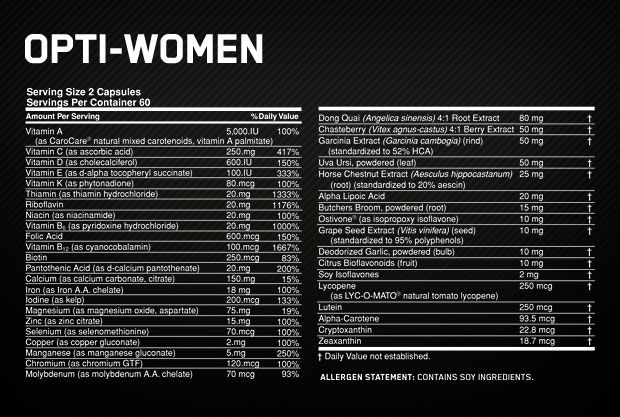 Opti-Women 120 Tabs - Optimum Nutrition