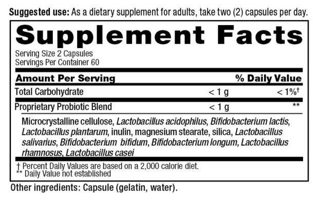 PB8 probiótico 120 caps - Now nutrition