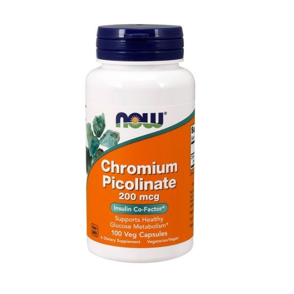 Picolinato de Cromo 200mcg 100 Caps - Now Foods