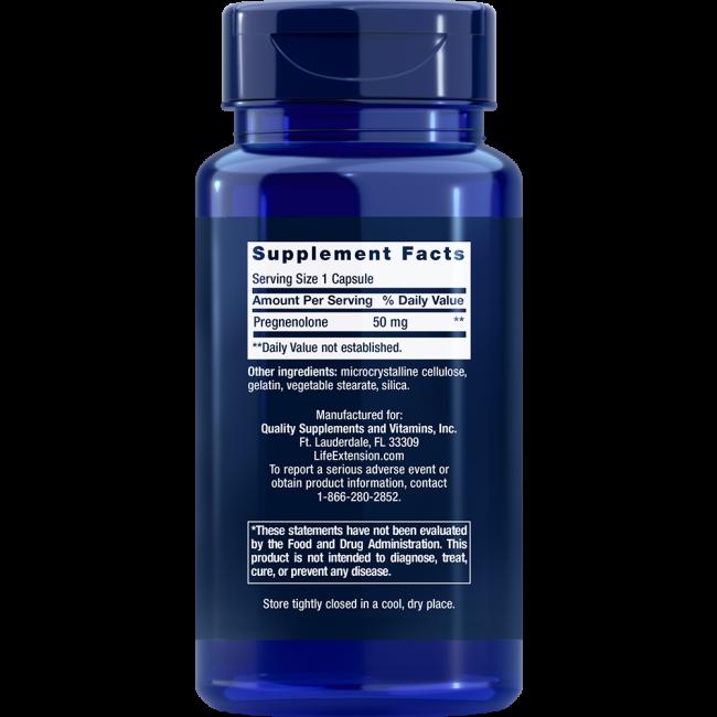 Pregnenolone 50 mg 100 cápsulas Life extension