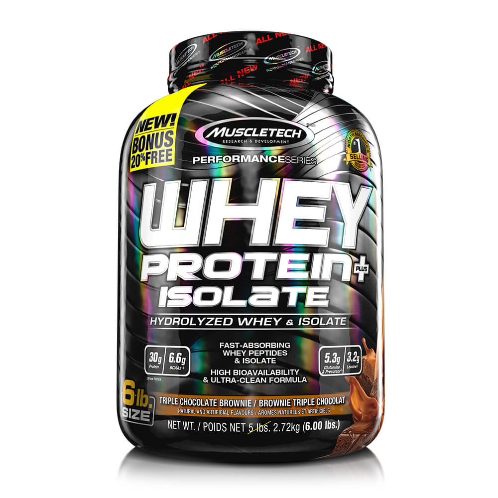 Premium 100% Whey Protein Plus Isolate (1,36 kg) 6lbs – Chocolate