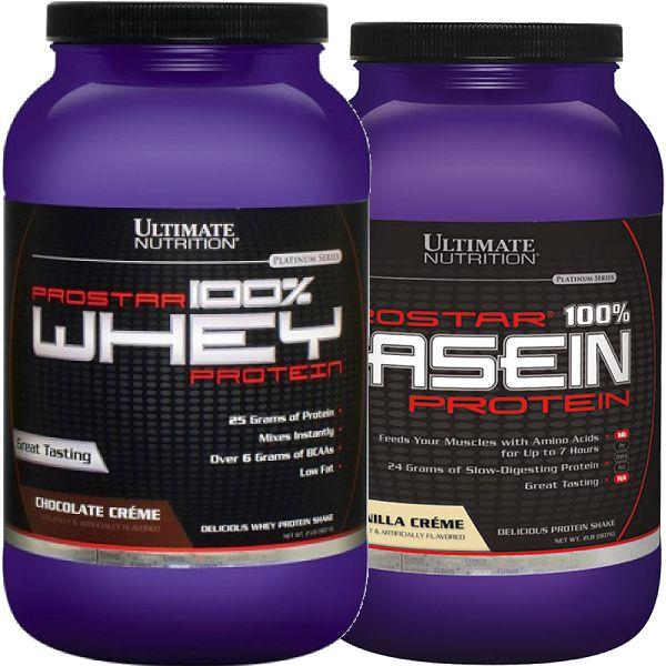 Prostar 100% Whey Protein 2lbs + 100% Casein 2lbs