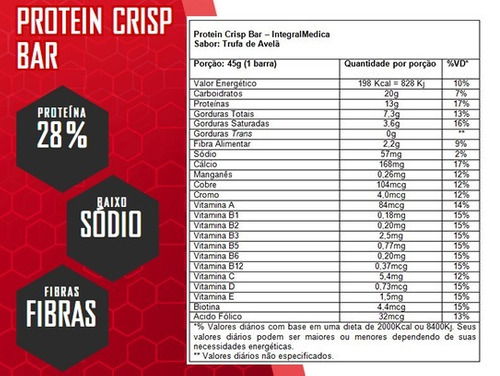 Protein Crisp Bar 45g 12 Unidades  Integralmedica