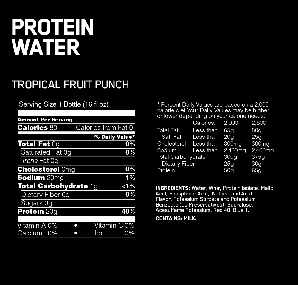 PROTEIN WATER ON