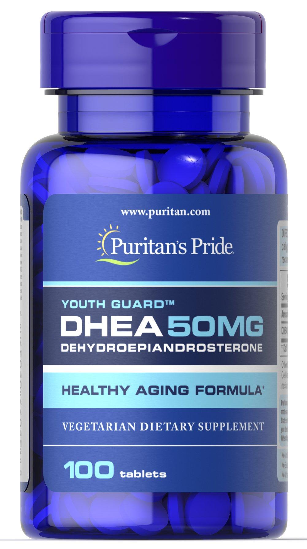 Puritan's Pride DHEA 50 mg 100 Tablets