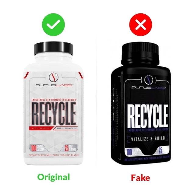 Recycle 100 caps Purus Labs