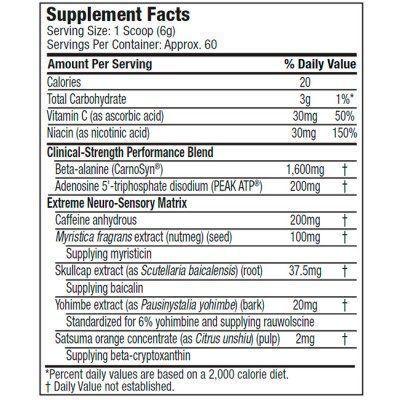 Shatter SX-7 Black Onyx 60 Doses - Muscletech
