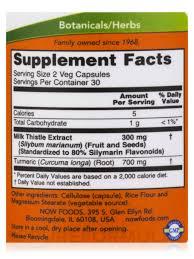 Silymarin 150 mg-60 capsulas now foods