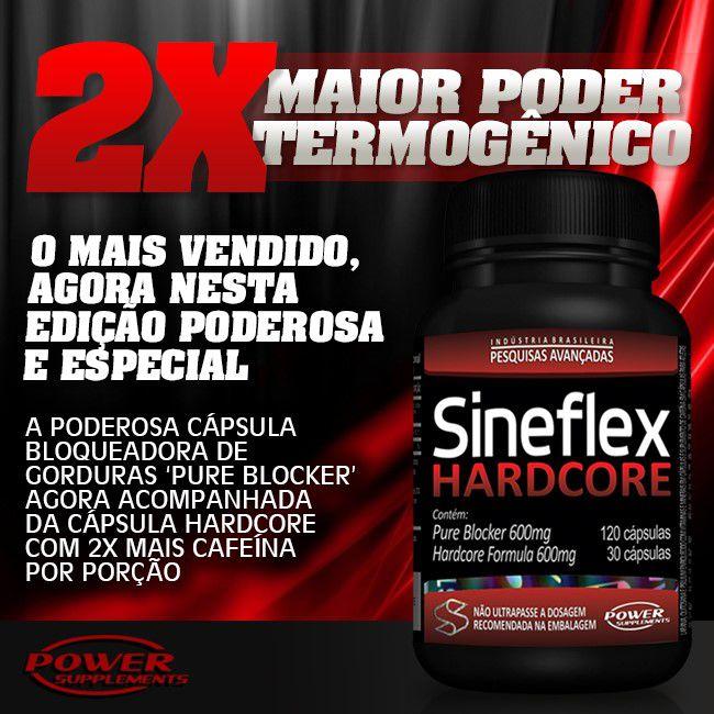SINEFLEX HARDCORE 120 CAPS. - POWER SUPPLEMENTS