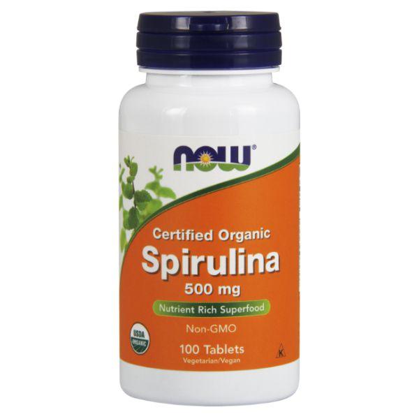 Spirulina 500mg 100 Tabs - Now Foods