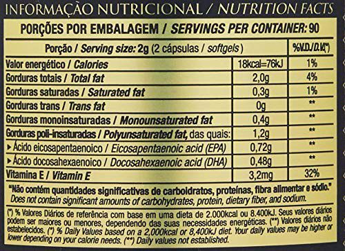 SUPER ÔMEGA 3 TG 1.000 MG 180 Capsulas - ESSENTIAL NUTRITION