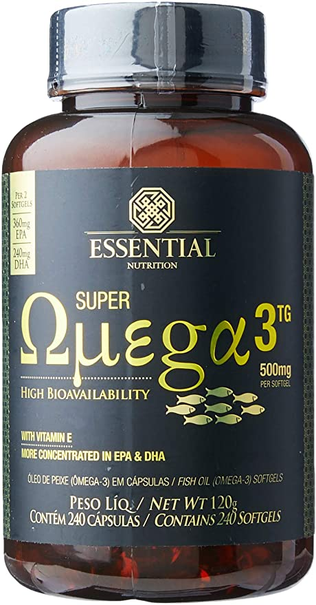 Super ômega -3 TG 240 capsulas -Essential nutrition