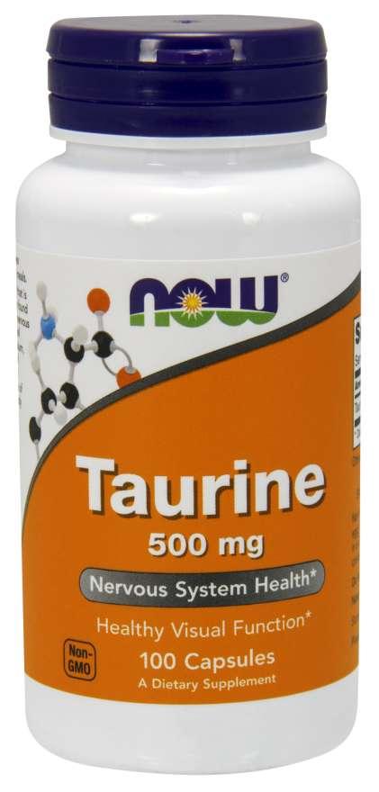Taurine 500 mg -100 capsulas Now Foods