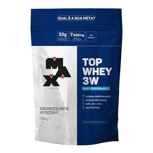 Top whey 3w mais performance - 1,8 KG -max titanium