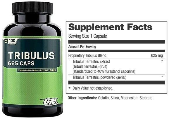 Tribulus 625mg 100 Caps - Optimum Nutrition