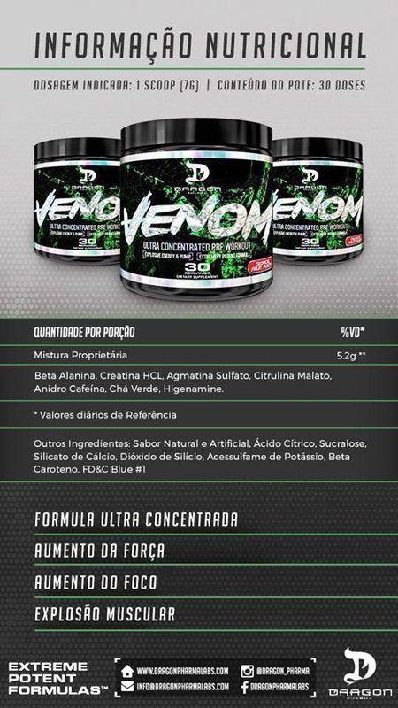 Venom 210g - Dragon Pharma + 100% Pure Whey 825g - Probiotica