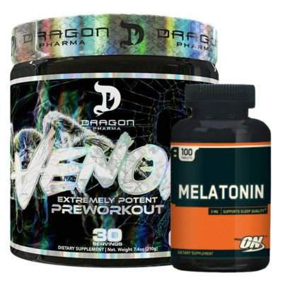 Venom 210g - Dragon Pharma + Melatonina ON 3mg 100 Caps - Optimum Nutrition