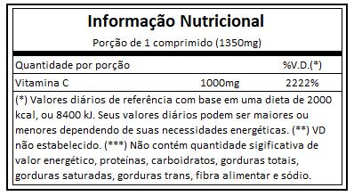 Vitamina C 1000mg 60 comprimido Vitaminlife