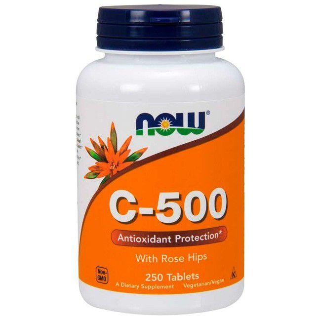 Vitamina  C-500 250 capsulas Now  foods