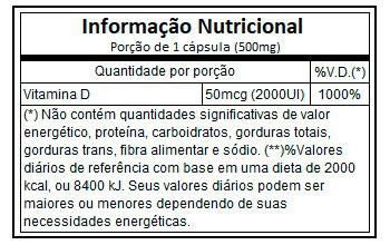 Vitamina D 2000UI 60 capsulas vitaminlife