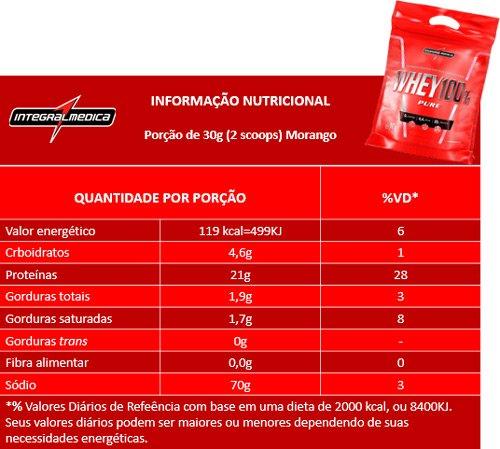 Whey 100% Pure refil 1,8Kg IntegralMedica