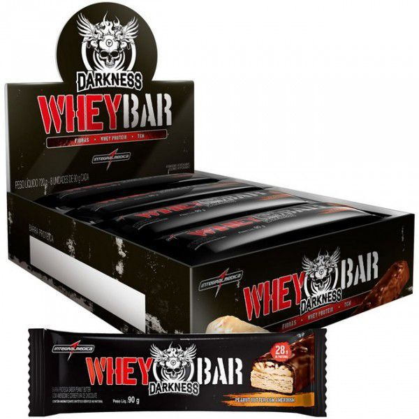 Whey Bar Darkness Cx C/8 300g - Integralmedica