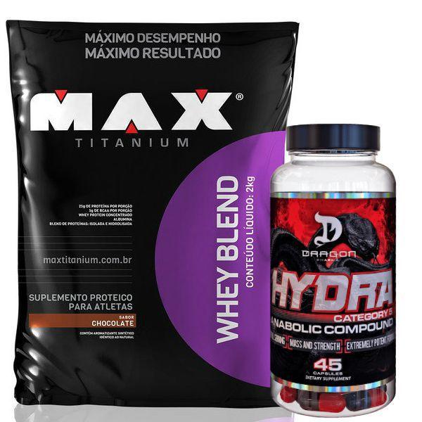 Whey Blend 2kg - Max Titanium + Hydra 45 Caps- Dragon Pharma