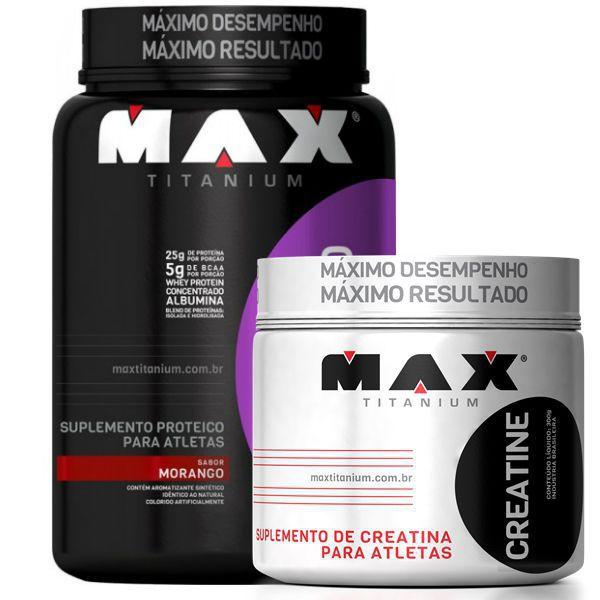 Whey Blend 900g + Creatina Titanium 300g  Max Titanium