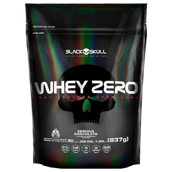 Whey Zero Refil 827g - Black Skull