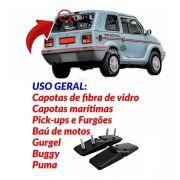 4 Dobradiça Tampa Motor Baú Furgão Van Puma Buggy Gurgel
