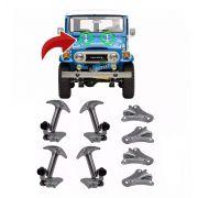 4 Kit Fechadura Presilha Capô Toyota Bandeirante Jeep Willys