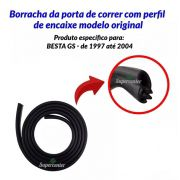 Borracha Porta De Correr Lateral Meio Kia Besta Gs 1997/2004