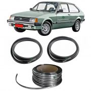 Kit Borracha Parabrisa Vigia + Friso Cromado Chevette Hatch